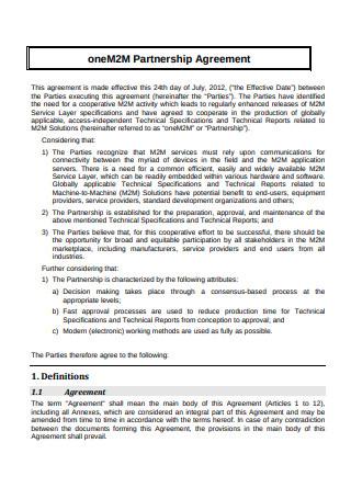 Partnership Agreement Format