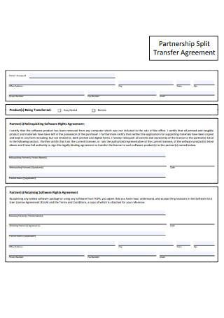 Partnership Split Transfer Agreement