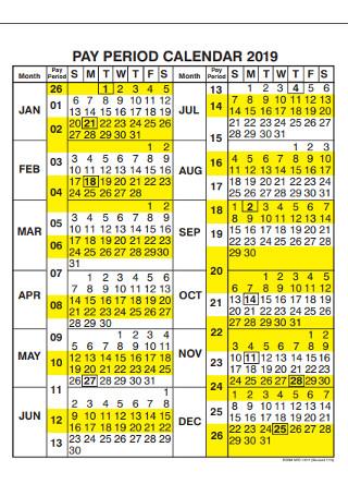 Pay Period Calendar