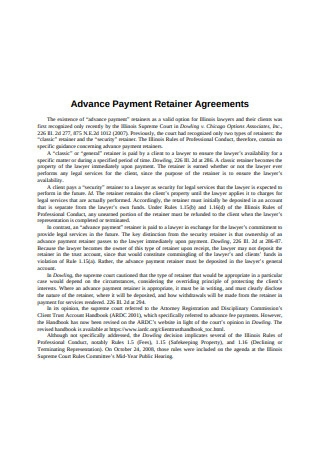 Payment Retainer Agreement