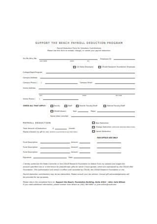 Payroll Deduction Program