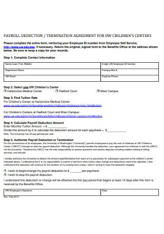 Payroll Termination Agreement