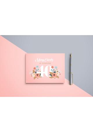 Peach Birthday Invitation