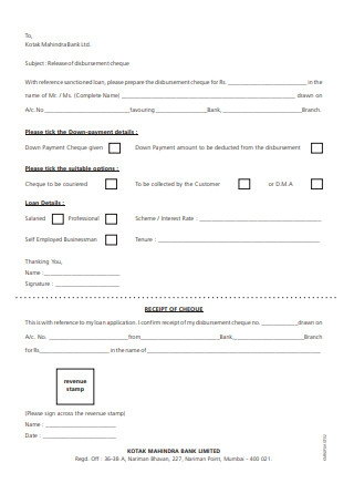 Personal Finance Agreement