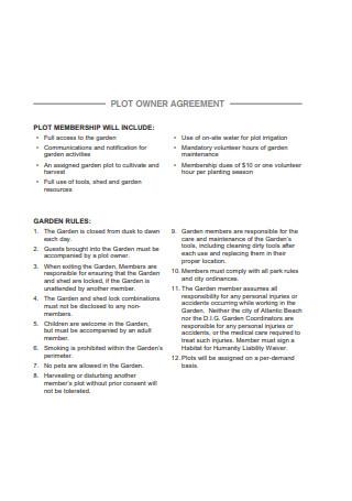 Plot Owner Agreement