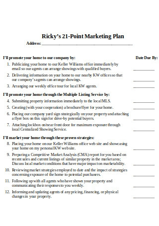 Points of Marketing Plan