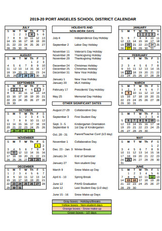 Port School Calendar