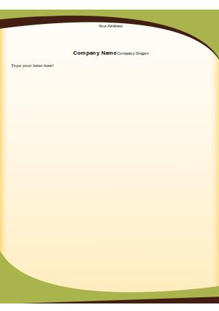 Printable Company Letterhead