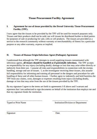 Procurement Facility Agreement