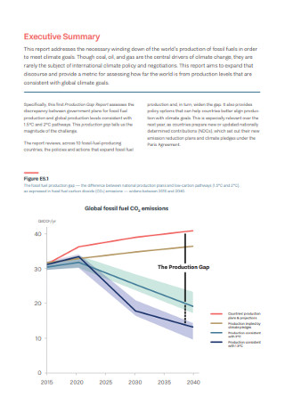 Production Gap Executive Summary