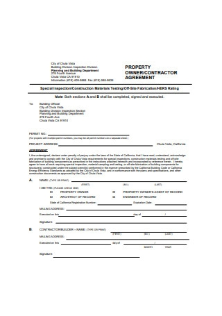 Property Owner Agreement Example