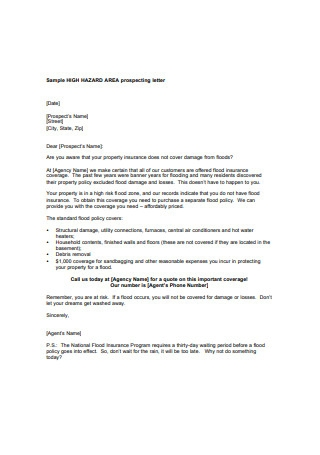 Prospecting Letter Format