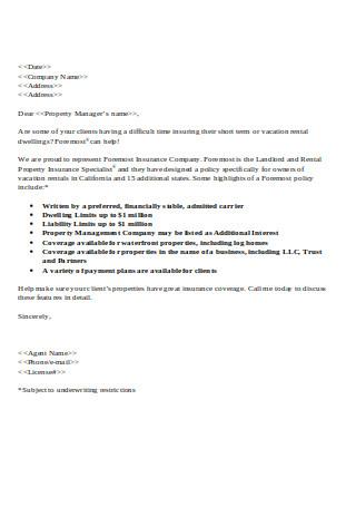 Prospecting Letter for Rental Agencies