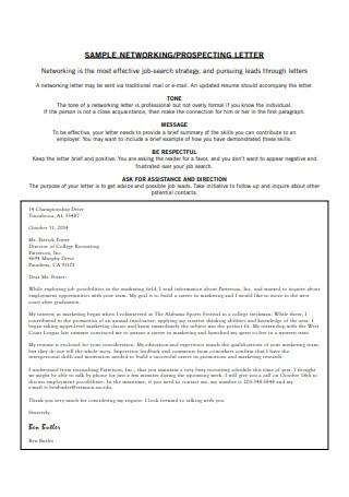 Prospecting Letter
