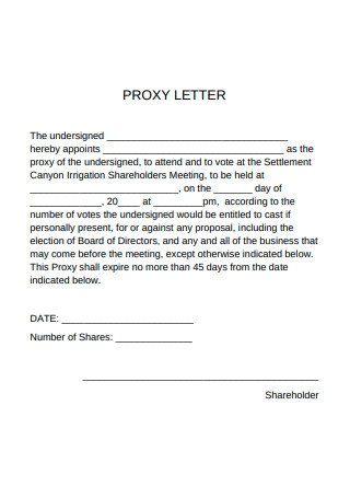 Proxy Voting Letter