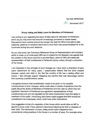 Proxy Voting letter from Leader