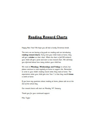 Reading Reward Chart
