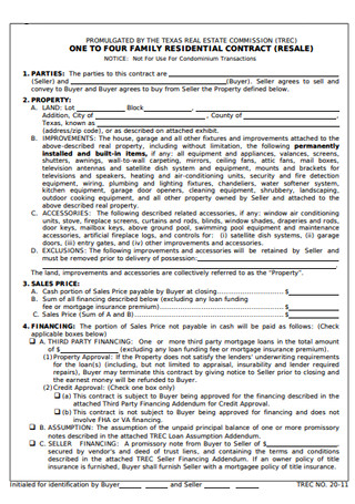 Real Estate Commission Contract