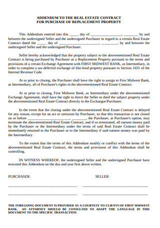 Real Estate Property Contract