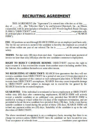 Recruiting Agreement