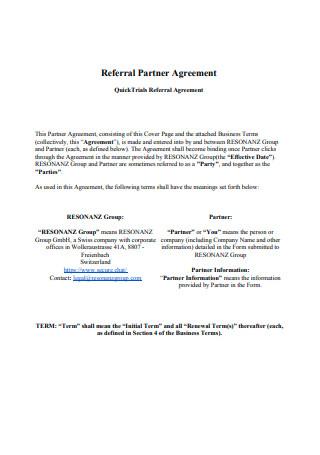 Referral Partner Agreement