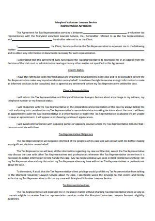 Representation Agreement Sample