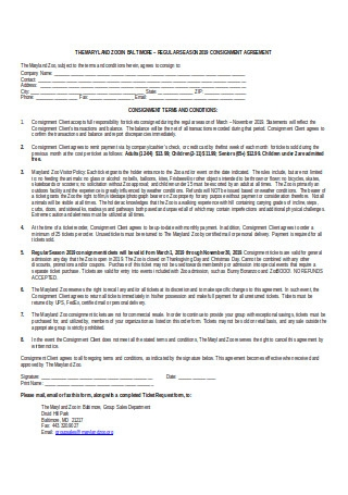 Resale Consignment Agreement