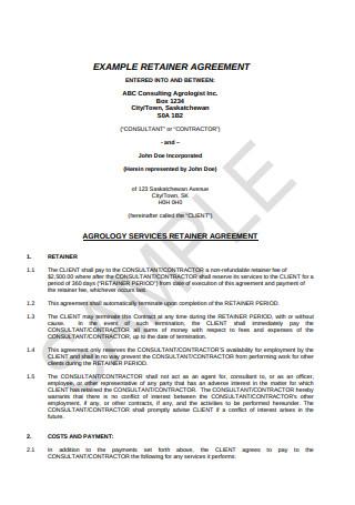 Retainer Agreement Example