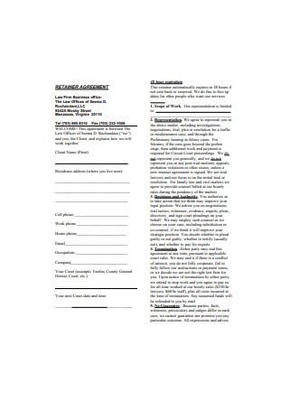 Retainer Agreement Format