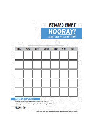 Reward Chart Sample