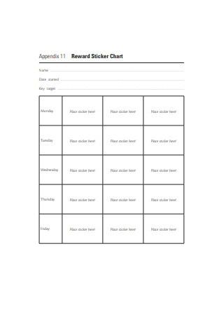 Reward Sticker Chart