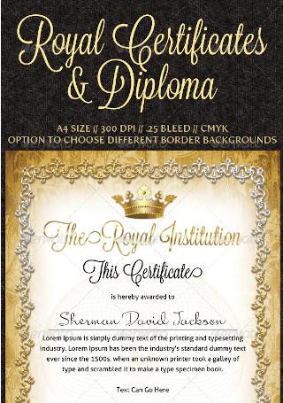 Royal Certificates