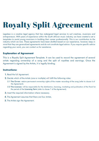 Royalty Split Agreement