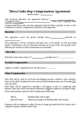 Sales Rep Commission Plan Template