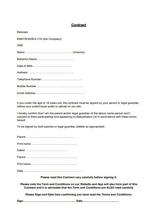 Sample Artist Contract