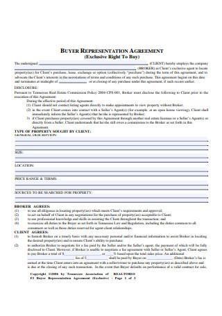 Sample Buyer Representation Agreement Example