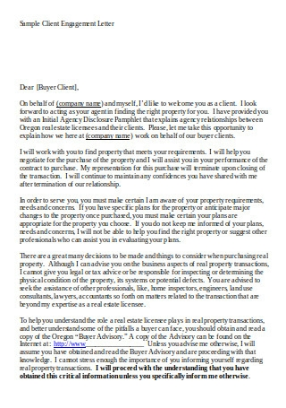 Sample Client Engagement Letter