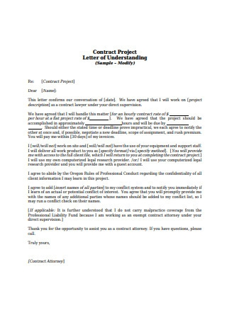 Sample Contract Letter