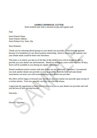Sample Dismissal Letter in PDF