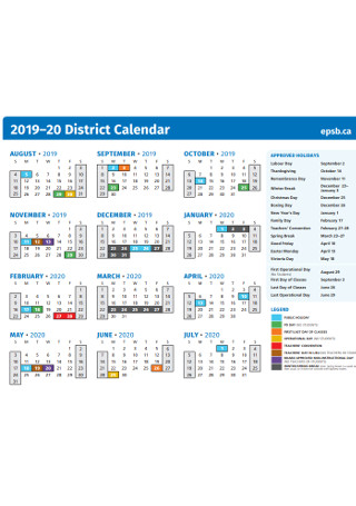 Sample District Calendar