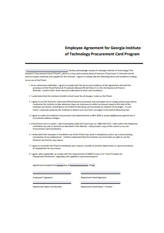 Sample Employee Agreement