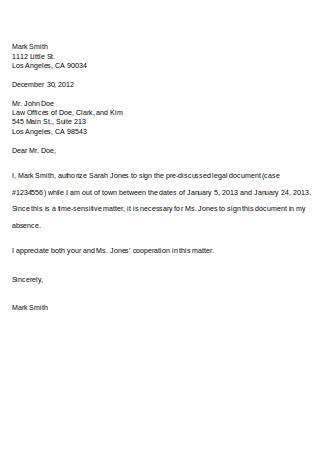 Sample Format of Proxy Letter