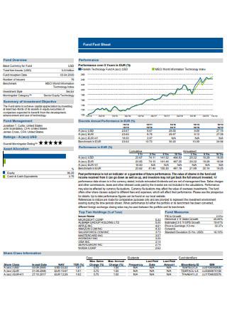 Sample Fund Fact Sheet