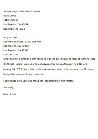 Sample Legal Authorization Letter