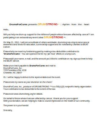 Sample Letter for Sponsors