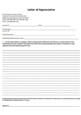 Sample Letter of Appreciation