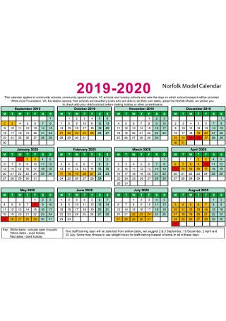 Sample Model Calendar