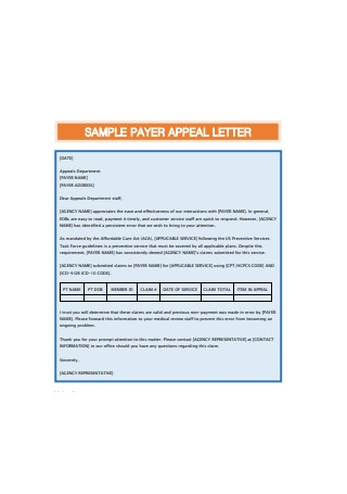 Sample Payer Appeal Letter