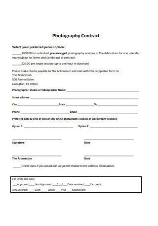 Sample Photography Contract Format