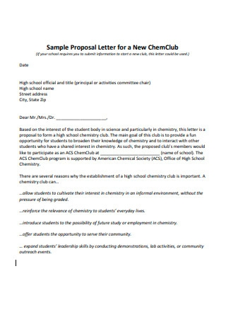 Sample Proposal Letter for Collaboration